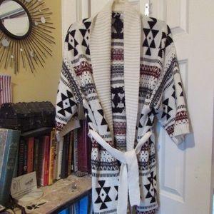 B. FRDAY! Aztec Knit Kimono Cardigan