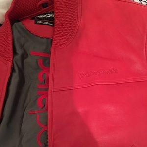 Jackets u0026 Coats - Red Pelle Pelle Leather Coat