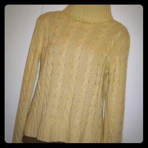 J.Crew Cable Knit Turtleneck Sweater, M, NICE!