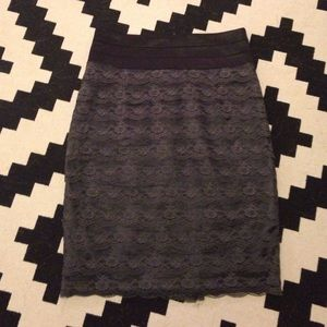 Banded Lace Pencil Skirt
