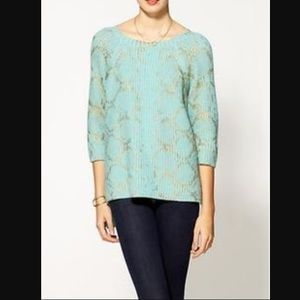 Piperlime Sweaters - Aryn K foil print pullover