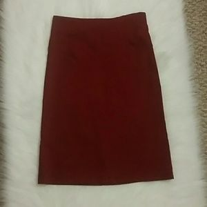 Dresses & Skirts - Red Pencil Skirt