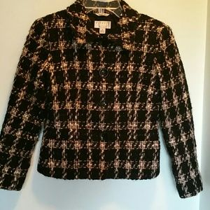 Talbots Jackets & Blazers - Talbots Fuzzy Plaid Jacket/Blazer SP ✨HP✨