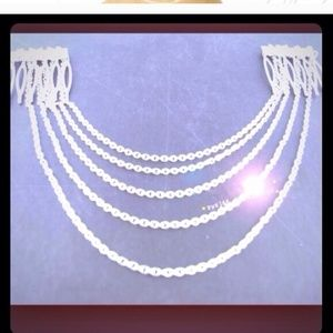 Accessories - Silver Hair Comb Chain Jewelry