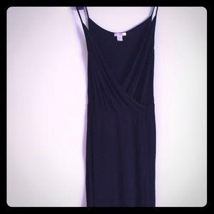 Lux Dresses & Skirts - Lux size small black cotton spaghetti strap dress