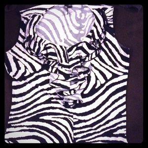 Zebra print dress top
