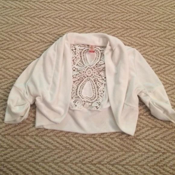 53% off No Boundaries Sweaters - Size medium. Pretty, white ...