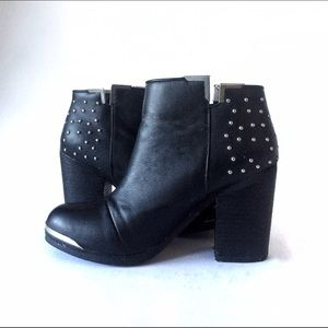 fb7e606e4 MTNG Shoes | Fullu Black Studded Ankle Boots | Poshmark