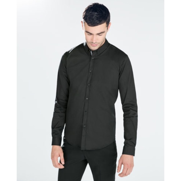 0fabd7da Zara Man Black Dress Shirt. M_5664dffdea3f361785005249