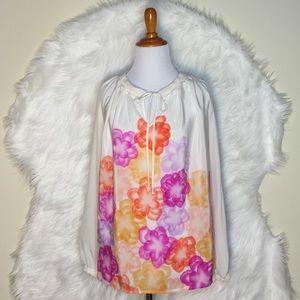 Hutch Tops - Hutch Floral Silk Long Sleeve Top