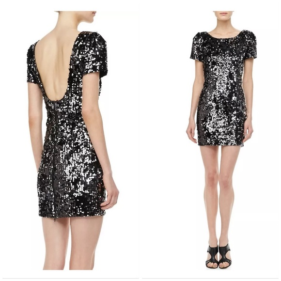 3c733e4b870 Milly Black Sequin Dress NWT! Deep Scoop Back