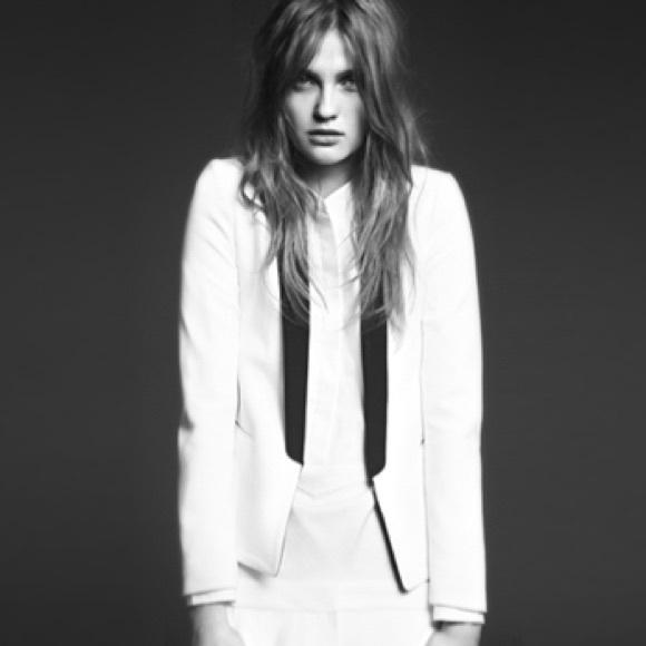 Womens Sandro Blazer Size CoatsWhite Poshmark Jacketsamp; S36 KFTcl1J