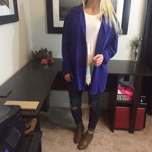 Deep Periwinkle Tencel Button Down by Tianello