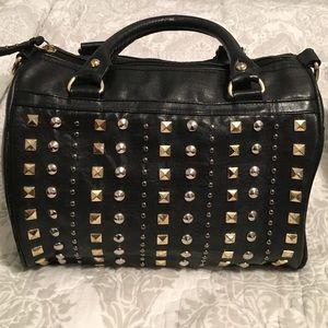 Steve Madden studded black satchel