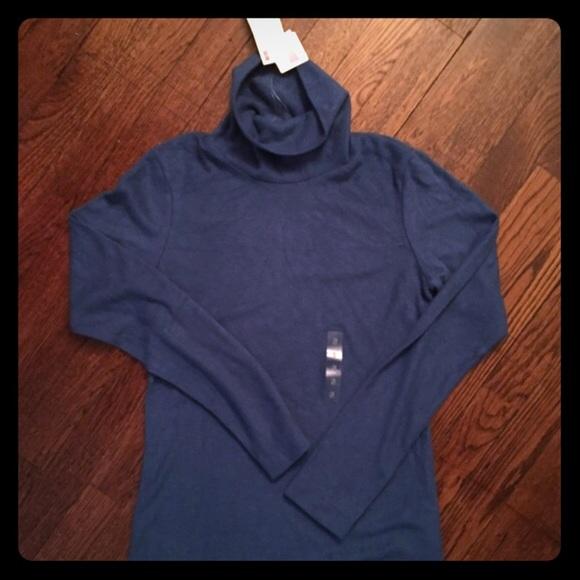 7400ca26 UNIQLO Sweaters | Nwt Heattech Fleece Turtleneck Blue | Poshmark