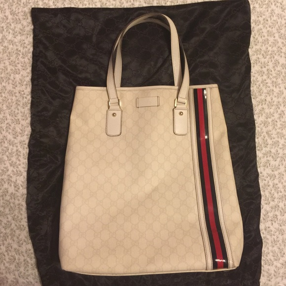 297288328d Gucci Bags | 100 Authentic Large Canvas Shopping Tote | Poshmark