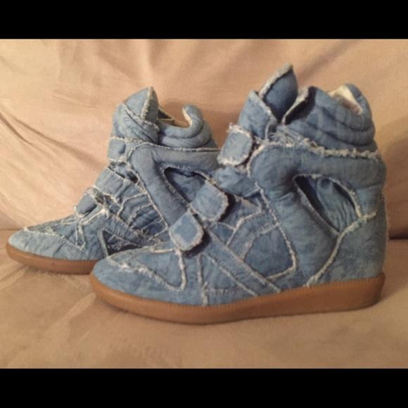 65e161a53a Isabel Marant Shoes - Isabel Marant Bekett denim wedge. Brand new.