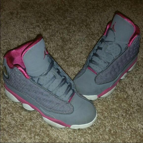 buy online 52a08 c784d Pink & Grey 13s 4y