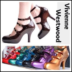 Vivienne Westwood Shoes - VIVIENNE WESTWOOD glossy rubber coolest shoes ever