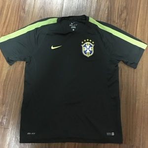 Authentic Nike soccer training jersey. Brazil.