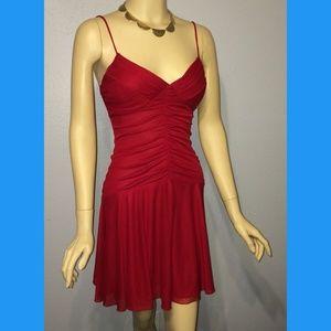 Dresses & Skirts - Diva Red BOMBSHELL ruche flirty dress. Small