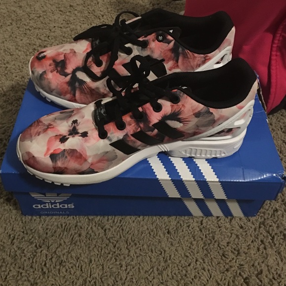 Womens Pink Adidas Zx Flux Running Shoes Handsome Payment