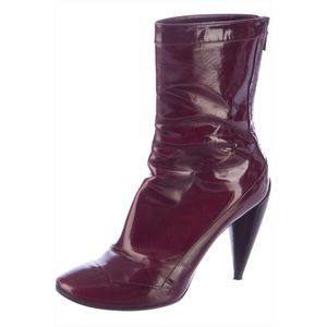 Costume National Shoes - Costume National Burgundy Ankle Boots