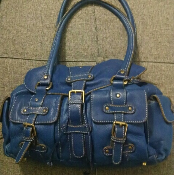 Abro Bags Blue Leather Handbag Poshmark