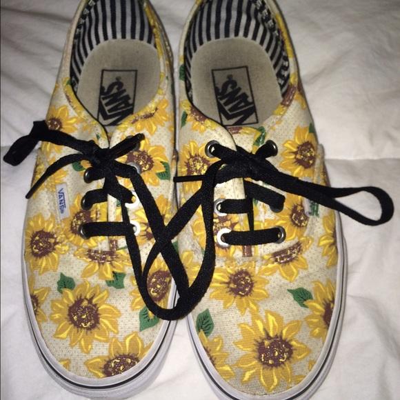 Vans Shoes | Vans Low Top Sunflower