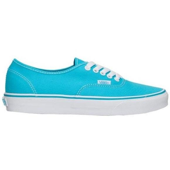 Vans Shoes | Aqua Blue Vans Size | Poshmark