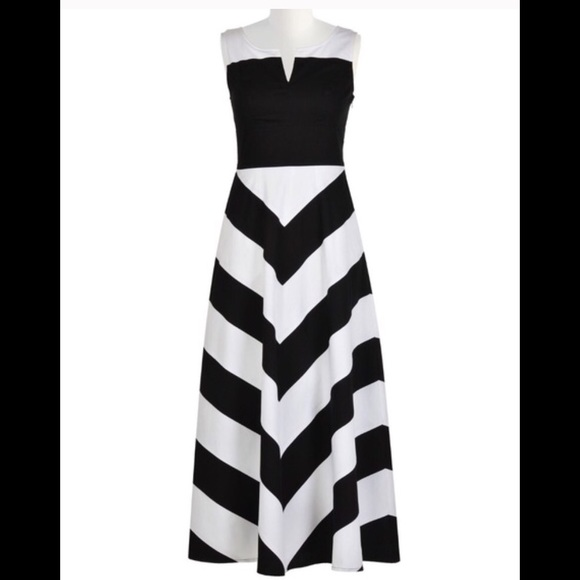 aea8aba481e5 Eshakti Dresses & Skirts - New Eshakti Chevron Maxi Dress Size 22