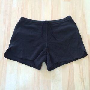 EXPRESS black lounge drawstring short shorts XS