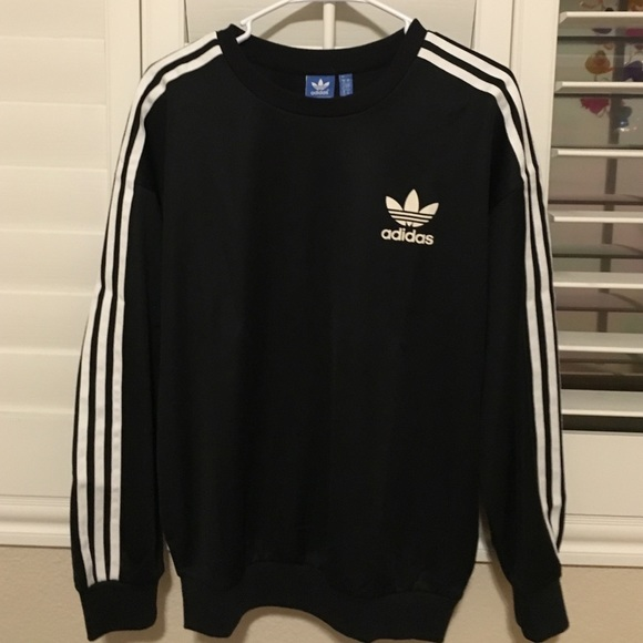 adidas stripes sweatshirt