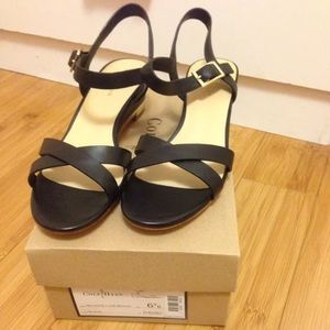 93b74b7c17f8 Cole Haan Shoes - New Cole Haan Melrose Low Wedge Black Sandal