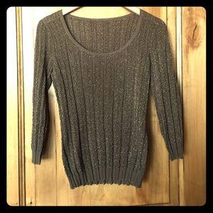 Etcetera brown iridescent 3/4 sleeve sweater