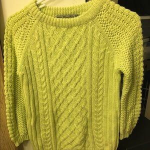 Zara sweater green yellow cool