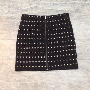 💎 2X HP 💎 Forever 21 Studded Black Mini Skirt