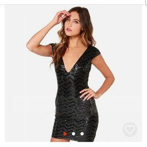 🖤 Gorgeous Black Sequin Dress