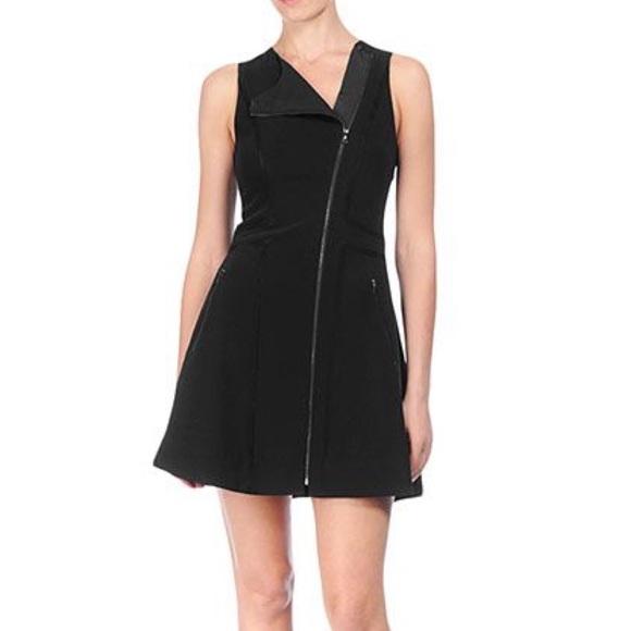 Rag & Bone Woman Sharon Silk Satin-trimmed Stretch-knit Mini Dress Black Size 2 Rag & Bone dyMt1lHbg