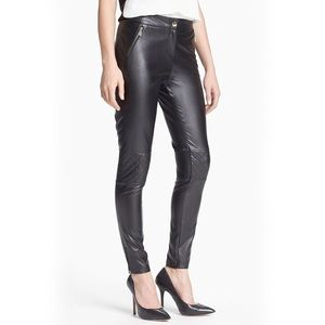 Vince Camuto Faux Leather Quilted Skinny Pant