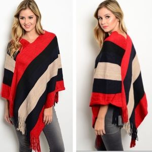 pink berry boutique Sweaters - Colorful poncho