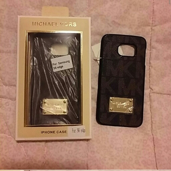 quality design bb90d bedca MK Samsung S6 edge case NWT