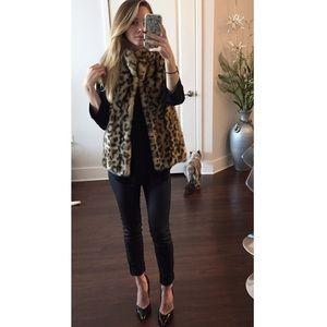 Fabulous Furs Jackets & Blazers - Faux fur leopard print vest.