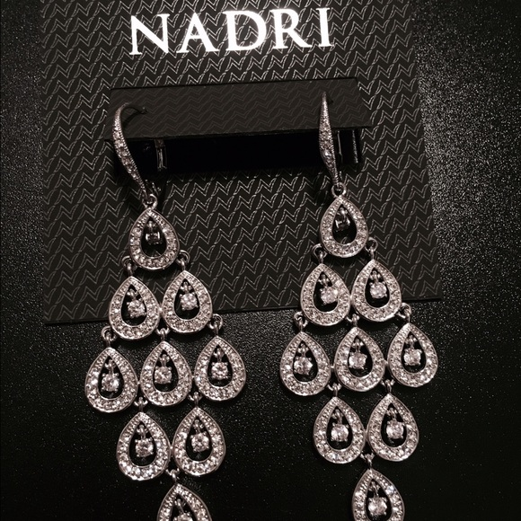56% off Nadri Jewelry - Nadri Rhinestone Chandelier earrings from ...