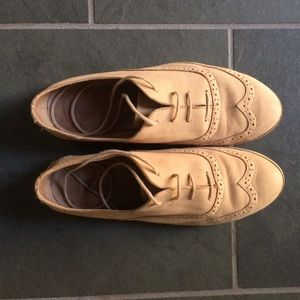 Topshop tan brogues