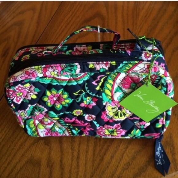 NWT Vera Bradley Blush   Brush makeup Bag Paisley 4eb6cdcc32e9c