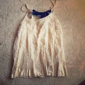 Charlotte Russe cotton lined lace top