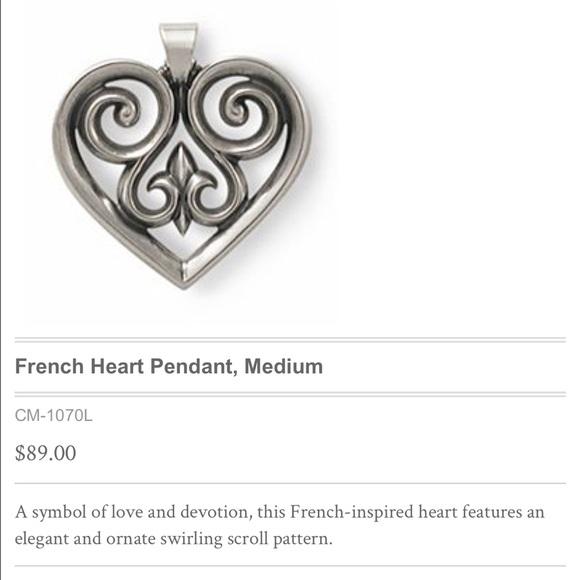 James Avery Jewelry French Heart Pendant Poshmark