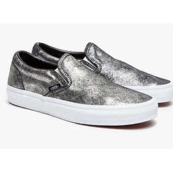 7e38dcb77f Vans Metallic Silver Slip On-Women s 6. M 5665e1a54e674891b801af95