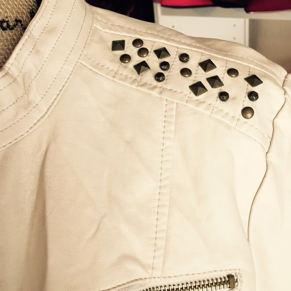 Wet Seal Jackets & Coats - Ivory/Cream faux leather Jacket NWT